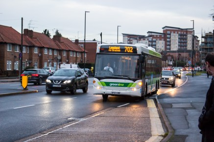 Greenline from Reading Buses - Omnicity - Close up at McDonalds