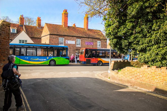 Services successfully connecting in Wells on the popular Coasthopper services - along with other routes in the area