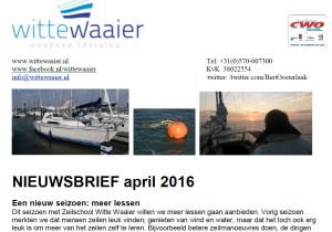 Knipsel Nieuwsbrief april 2016