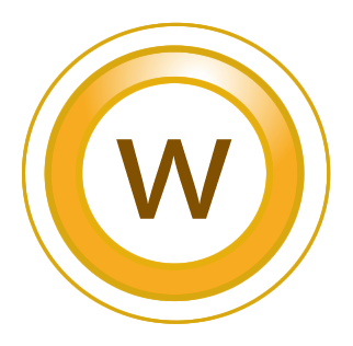"A ""W"" in a circle"