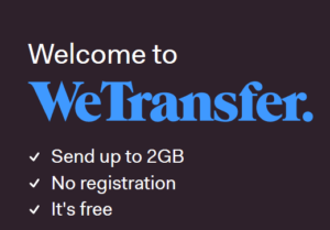 WeTransfer - One of the 20 Most Useful Websites available on the Internet