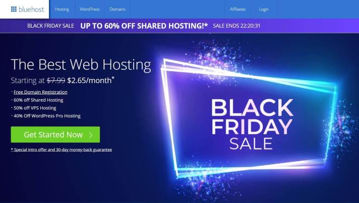 BlueHost Hosting Black Friday and Cyber Monday Sale