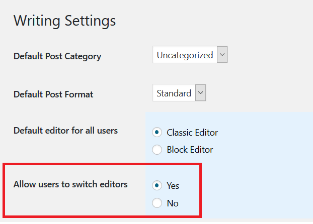 Disable Gutenberg as well as using both editors