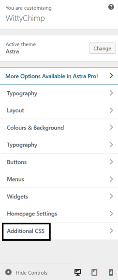 Adding CSS to Change Font Size In WordPress