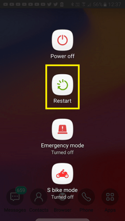Restarting Your Android Smartphone to Fix Andorid App Download Error