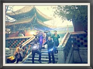 MBA Team doing some Tai Chi Pose
