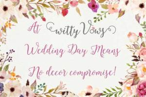 The importance of good design for your big day - Witty Vows