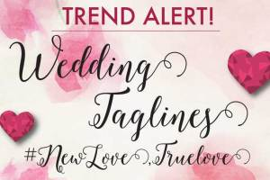 Wedding taglines a great new idea - witty vows
