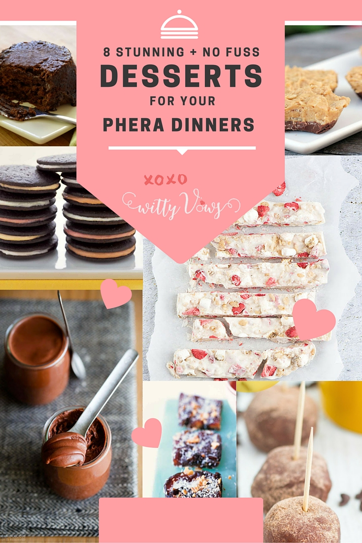 8 fuss free phera dinner desserts DIY Witty vows