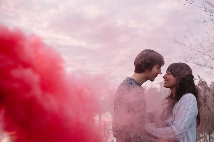 Smoke-Bomb-Themed-Engagement-witty vows