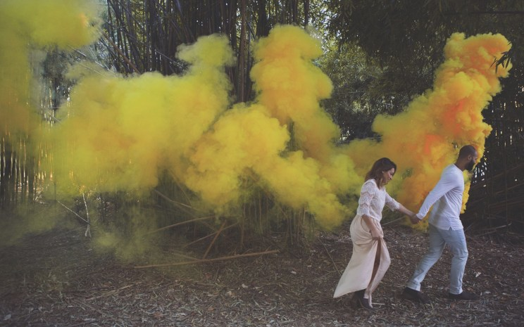 Smoke bombs for wedding shoots witty vows