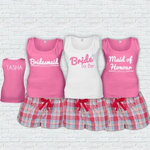 Personalised wedding pyjamas witty vows