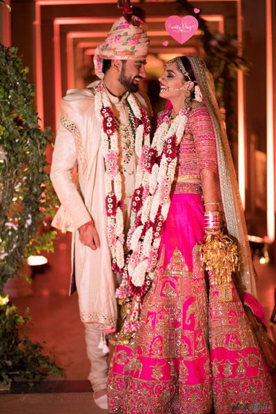 Shravana and Kanav - jaimalas for the ShraNav wedding