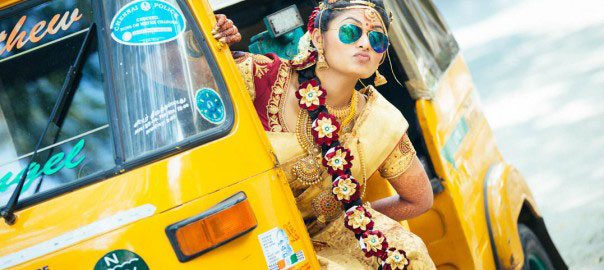 Innovative entry ideas for the Indian Bride | Ride in on an Auto Chiller bride style | Curated by Witty vOWs