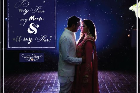 Love Quote| Indian Couple | Indian wedding Photographer | Stunning Shot| Love| Intimate Couple Shot| Starry Night| Witty Vow Curated