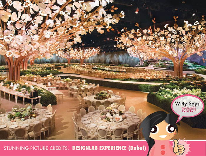 Witty Says WOW | Stunning and amazing wedding reception decor idea for the Indian Wedding indoor by Design lab Events | Curated By witty Vows
