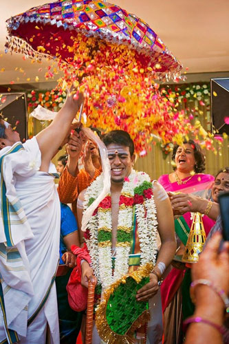 PICTURES THAT PROVE EVERY INDIAN BRIDE MUST GET A PICTURE WITH A FLOWER SHOWER   A bridal entry in style   Ceremonies are more animated   Curated By Witty Vows