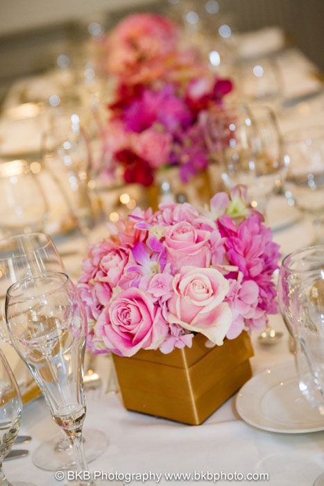 Mehendi Decor Ideas | Wedding mood board to love - PINK and GOLD INDIAN Mehendi Theme curated by Witty Vows | Hot Pink fuchsia Rani Pink Pluss gold Colour Indian wedding Decor PINK | Add gota or gold ribbon to the vases for centrepieces