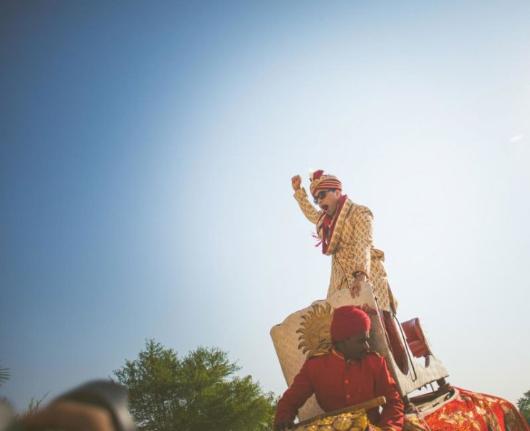 pictures every indian groom must have with his friends from the wedding   Groom on the elephant   Curated by Witty Vows