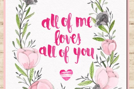 Cute and fun love quotes fro Indian Couples and Indian weddings - All of me loves all of you | Curated by Witty Vows