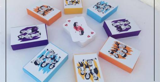 Customised couple playing cards deck | idea for your first dewlap cards party together at home | curated by Witty Vows