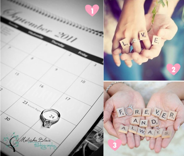Save the date ideas for Indian weddings | Ideas with the wedding ring and band | Ring with calendar | ring with scrabble tiles | Curated by Witty Vows