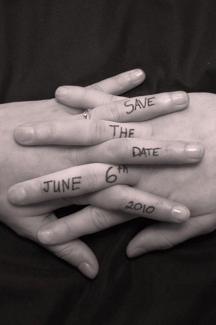 Save the date ideas for Indian weddings | Intertwined fingers, holding hands with dates written on the hands | Curated by Witty Vows