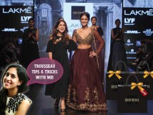 Bridal fashion tips for the trousseau for Indian weddings by fashion designer Ridhi Mehra | Ileana Cruz walks the ramp | Curated by Witty Vows