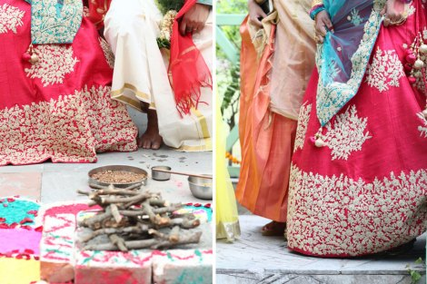 A woodland theme forest destination wedding in the Hills   Bengali wedding by the lakeside   Traditional Bengali wedding ceremony at a destination   Unconventional bengali bride in red lehenga and turquoise dupatta Subhashree and Jonathan   Ideas   curated by Witty Vows