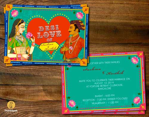 Unique Indian wedding invitation card ideas