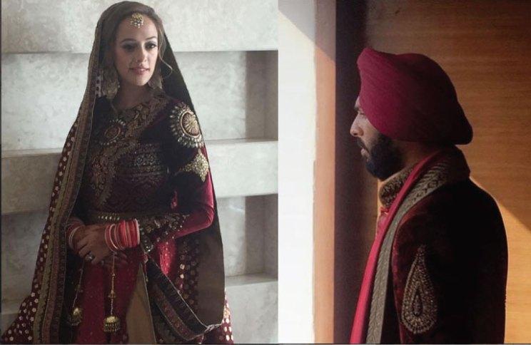Yuvraj Singh's Pretty Punjabi wedding in Chandigarh | Yuvraj Singh and Hazel Keech ready to tie the know photos from their chandigarh wedding where yuvraj wears a jj valaya | via harpers bazaar bride | Witty Vows