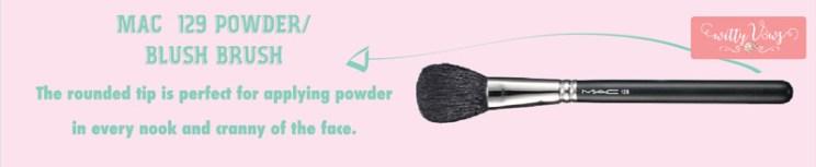 Indian Makeup guide brush - Mac powder blush review