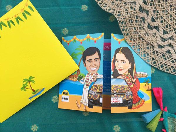 Unique Indian wedding invitation card ideas | Po Tweet
