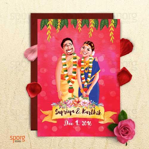 ... Unique Indian Wedding Invitation Card Ideas | Sporg Stores
