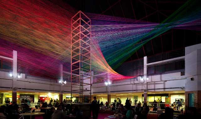 Thread Installation by Sumant at India Art Fair