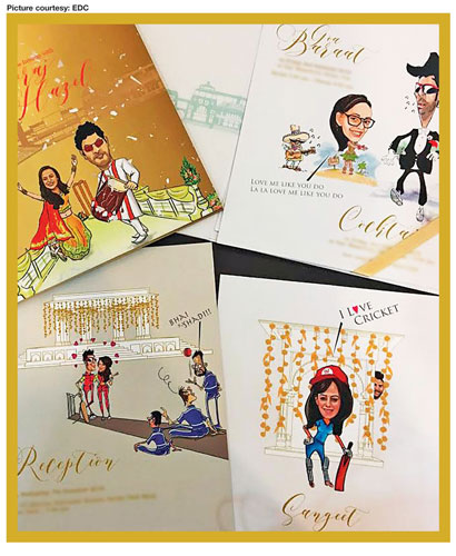 Creative Fun And Unique Indian Wedding Invitation Card Ideas Caricature Cards