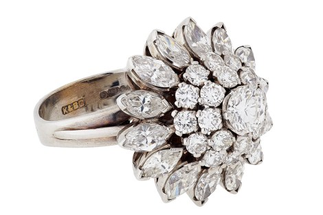 Trending new ideas for Engagement rings for Indian brides  Diamond Cluster Ring Setting for Indian Brides on a budget   Trending New wedding ring Design Ideas foe Indian Brides on a Budget