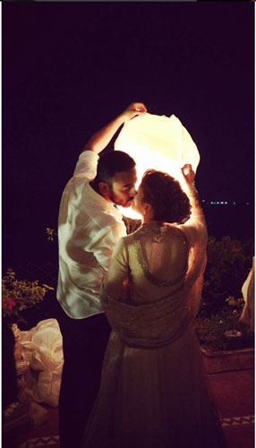 New Indian wedding Ideas | Actor Arunoday Singh's Wedding in Bhopal to Lee Elton in Bhopal | Indian Couple release sky lantern at their wedding