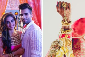 Karan Tacker and Krystal DSouza   Kaleera Drop moment in Indian WEddings