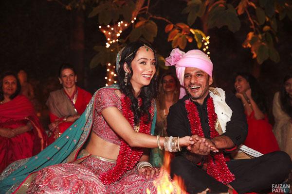New Indian wedding ideas from VJ Yudi and Aditis Pretty Wedding | Yudhisthar and aditi during the ceremony