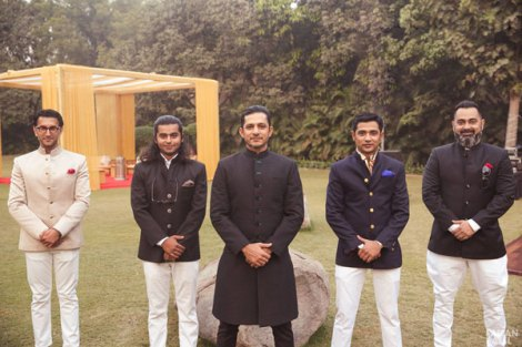 New Indian wedding ideas from VJ Yudi and Aditis Pretty Wedding | Yudhisthar poses for a photo with his best men