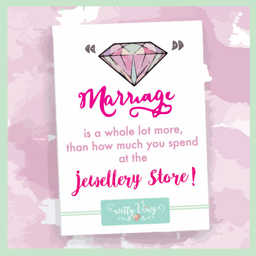 Marriage is a lot more than how much you spend at the jewellery store   Watercolour   Wedding ring   Wedding quote   Witty Vows   Minimal New Trending Wedding ring design ideas for indian brides on a budget   Engagement Rings   Budget Wedding Rings