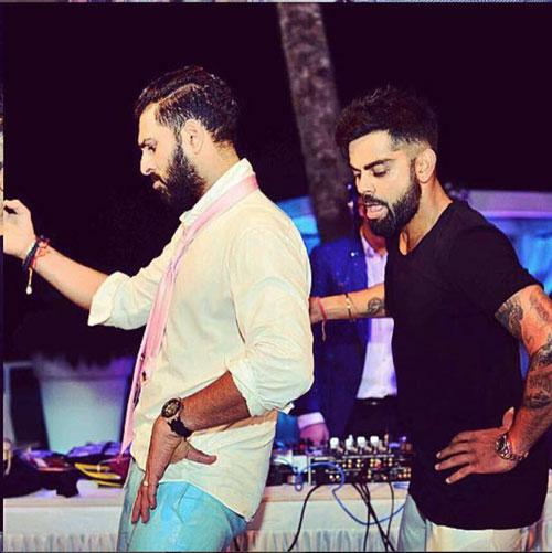 Yuvraj Singh's Wedding reception & Sangeet in Delhi | Yuvraj and Kohli Dance at his Goa wedding