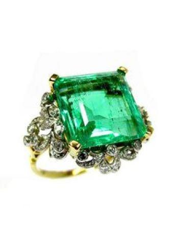 Trending New Wedding ring design ideas for Indian brides on a budget | Vintage Heirloom Wedding Ring Design with Emerald
