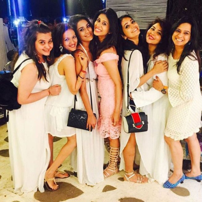 Indian Bachelorette Ideas - Kishwer Merchant's Bachelorette Party in Goa | Bachelorette brunches and dinners in pretty dresses