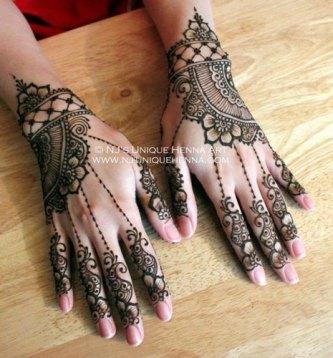 Minimal new mehndi design ideas for this wedding season | Henna Ideas | Lace Style Henna with Jaali on back of the hand