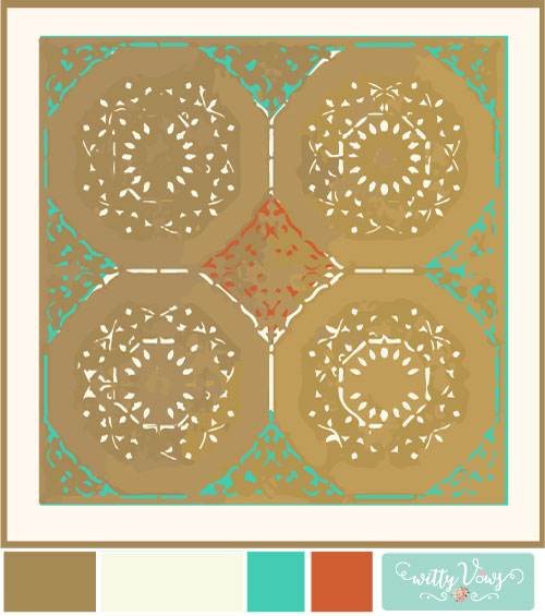 Colours for moroccon theme Sufi Night | Sangeet decor ideas | Free Sangeet Theme | Ivory with teal blue and orange