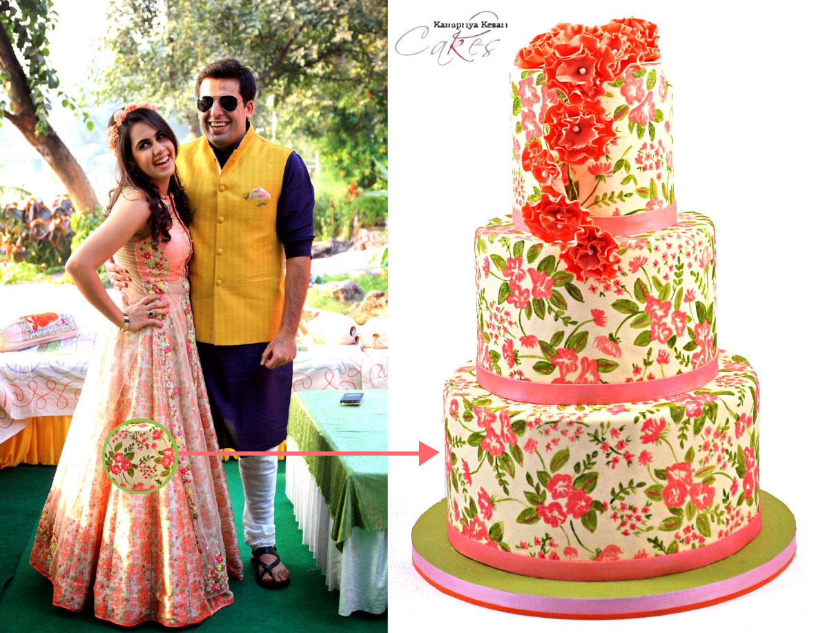hindu wedding cake facts kanupriya indian matching cake as dress for mehendi 15238
