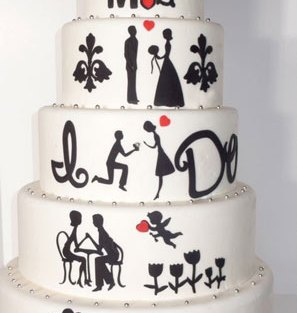 personalised wedding cakes   Indian Wedding Cakes   Cakes that show proposal story   love story wedding cakes
