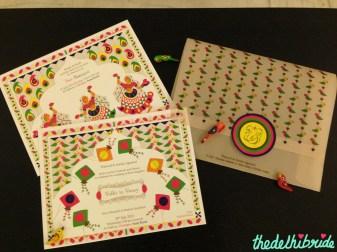 Offbeat Wedding Card of Delhi Bride